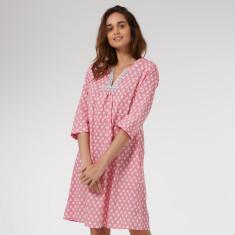 Florence Kaftan Nightie in Pink Solero print