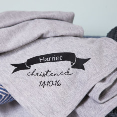 Personalised Christening Baby Blanket