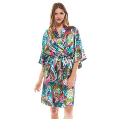 Tropics Robe Green In Gift Bag