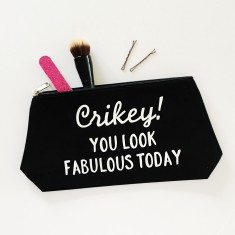Crikey you're fabulous make up bag