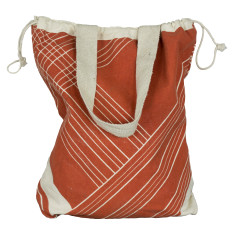 Stripe canvas backpack/tote