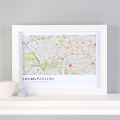 Personalised Map Location Landscape Print