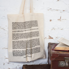 Pride and prejudice cotton book bag