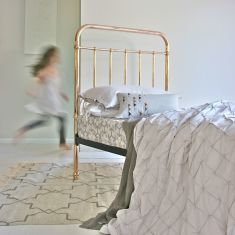 Gather duvet cover in moonbeam