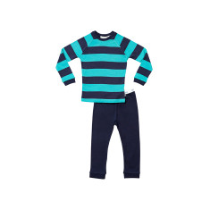 Teale and Navy stripe pj Senior