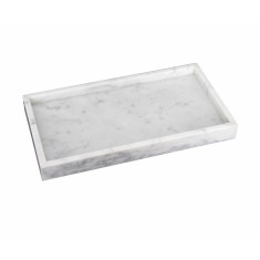 White Rectangular Marble Tray