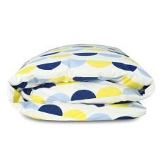 Scallop duvet set in blue & yellow