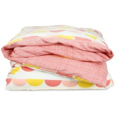 Scallop duvet set in pink & yellow