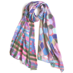 Lilac wine silk scarf