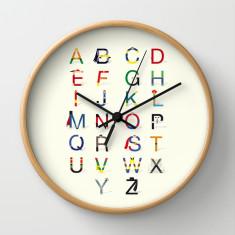 Alphabet clock