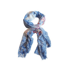 My Dreamscape Scarf: Light Pink & Blue Floral Field