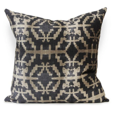 Sunstone Urban Aztec Cushion Cover in Black / Earth