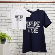 Spare Tyre, Never Tirer T Shirt Set