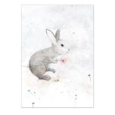 Spring Bunny Rabbit Print Pink