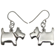 Scottie dog sterling silver earrings