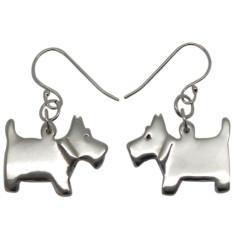 Scottie dog sterling silver earrings