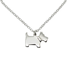 Scottie dog sterling silver necklace
