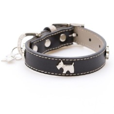 Bling Westie dog collar in black