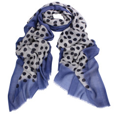 Carter Dipped Spot Wool Silk Scarf (various colours)