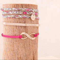 Personalised Stacking Bracelet Set - 3 hand-engraved bracelets