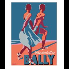 Bally sandalettes vintage poster