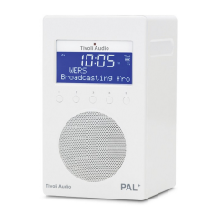 PAL+ portable digital radio in white