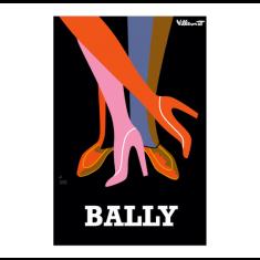 Bally legs vintage poster