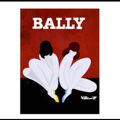 Bally lotus vintage poster print