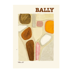 Bally abstract vintage poster print
