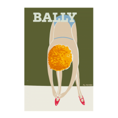 Bally dancer vintage poster print