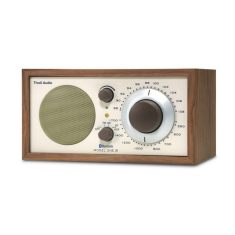 Model one BT bluetooth table radio in classic walnut