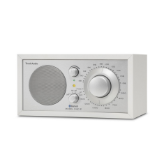 Model one BT bluetooth table radio in white silver