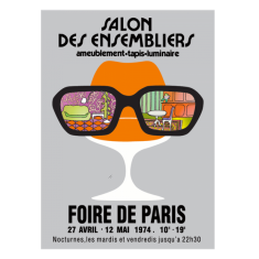 Salon Des Ensembliers vintage poster print