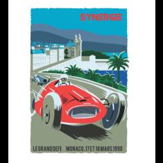 Synergie Monaco vintage poster