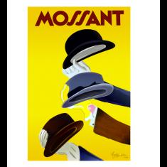 Vintage mossant hats vintage poster