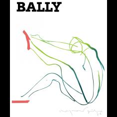 Vintage Bally woman poster print