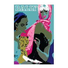 Bally two women vintage poster