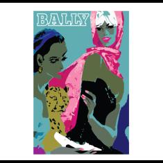 Bally two women vintage poster