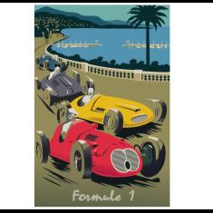 Formule 1 vintage poster