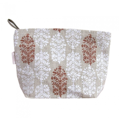 Cosmetics bag in white & red Indian summer