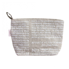 Cosmetics bag in Latin herbal white