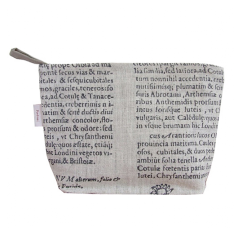Cosmetics bag in Latin herbal black