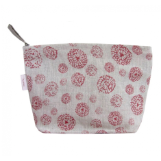 Cosmetics bag in wildflower red