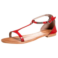Les Tropeziennes French sandals in trefle red