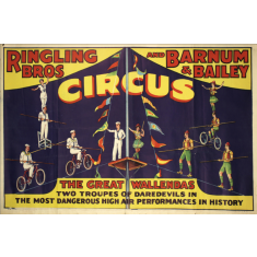 Ringling Bros circus ready to hang canvas print