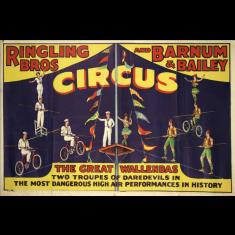 Ringling Bros circus ready to hang canvas print