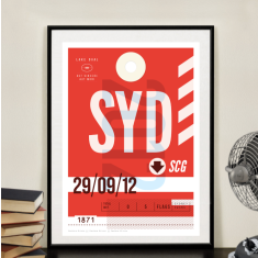 Sydney Swans footy team luggage tag wall art