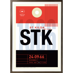 St Kilda luggage tag wall art