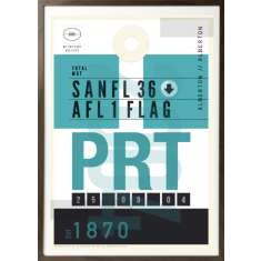 Port Adelaide luggage tag wall art