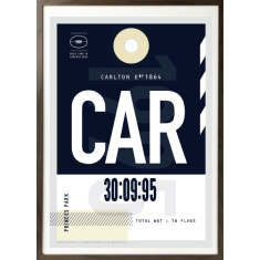 Carlton luggage tag wall art